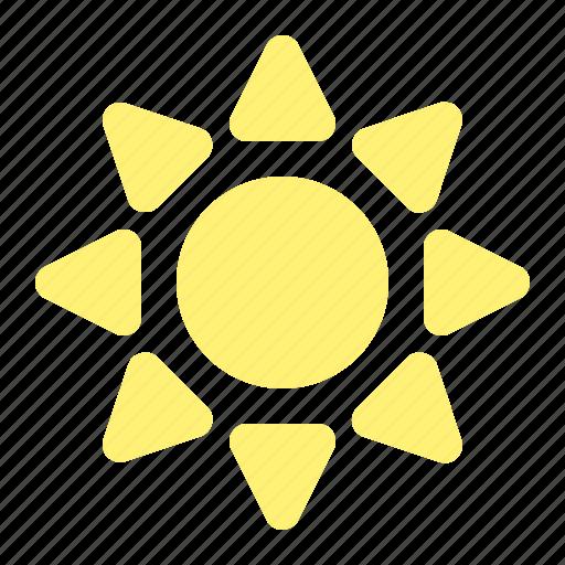 brightness, light, summer, sun, sunny, warm, weather icon