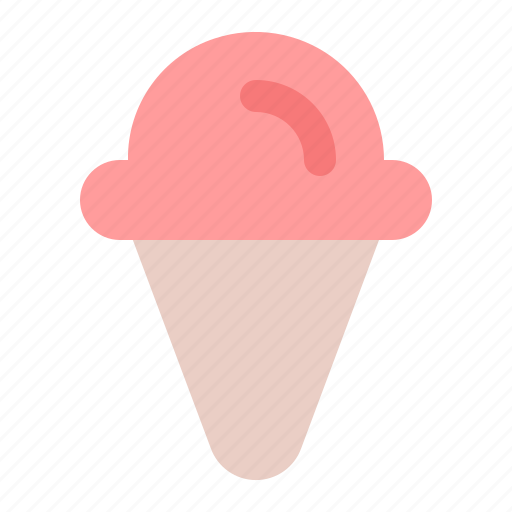 cone, cream, frozen, holiday, ice, summer, vacation icon