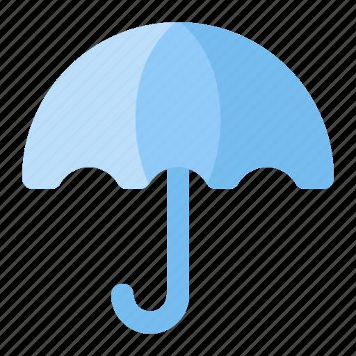 holiday, rain, summer, umbrella, vacation, weather, wet icon
