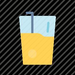 juice, orange, summer icon