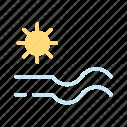 sea, summer, sun icon