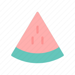 fruit, summer, water melon icon