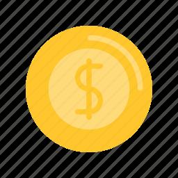 coin, dollar, summer icon