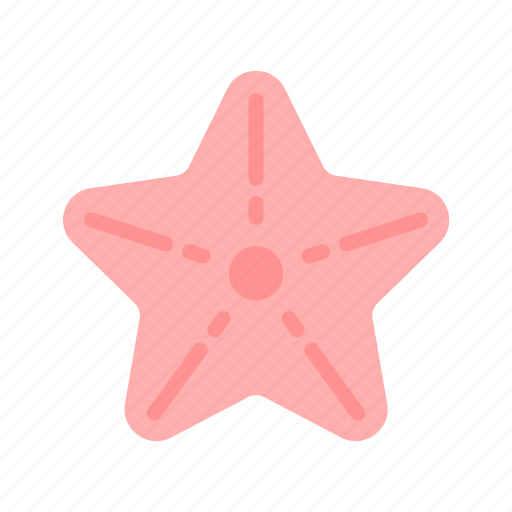 sea, starfish, summer icon