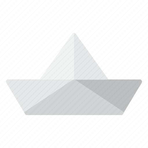 paper boat, summer icon