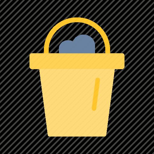 bucket, sand, summer icon