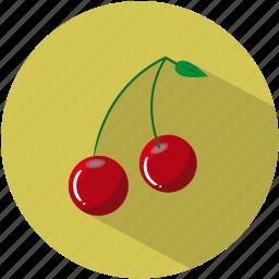 cherries, cherry, dessert, food, fruit, healthy, pips icon