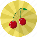 cherries, dessert, food, fruit, summer, sweet, vegetable icon