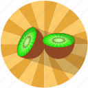 food, fruit, kiwi, refreshing, summer, tasty, vegetable icon