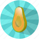 caribbean, food, fruit, papaya, refreshing, summer, vegetable icon