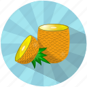 caribbean, food, fruit, juice, pineapple, summer, tasty icon