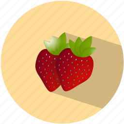 dessert, food, fruit, healthy, red, strawberry, sweet icon