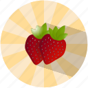 dessert, fruit, love, romantic, strawberry, summer, tasty icon