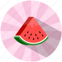 food, fruit, refreshing, summer, tasty, vegetable, watermelon icon