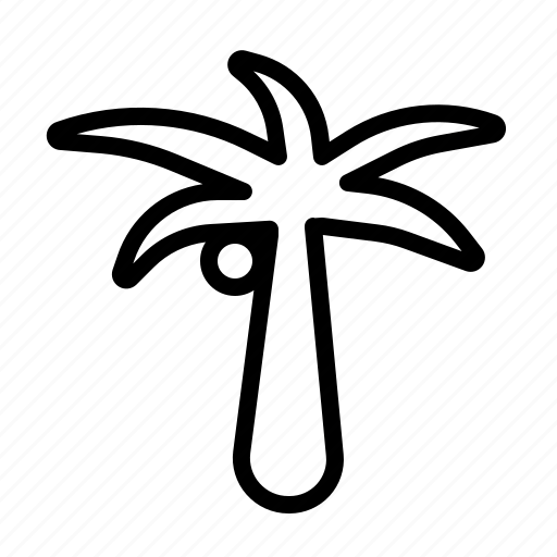 beach, coconut tree, holiday, summer icon