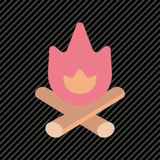 burn, camp, outdoor, survival icon
