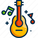 guitar, folk, summertime, holidays, relax, music, summer