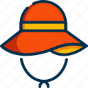 hat, summer, sun, beach, summertime, protection, fashion