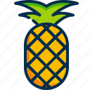 pineapple, food, fruit, healthy, natural, summer, summertime