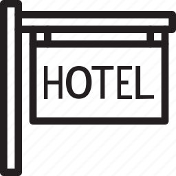 christmas, holiday, hotel, sign, summer, vacation, winter icon
