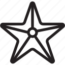 christmas, holiday, starfish, summer, vacation, winter icon