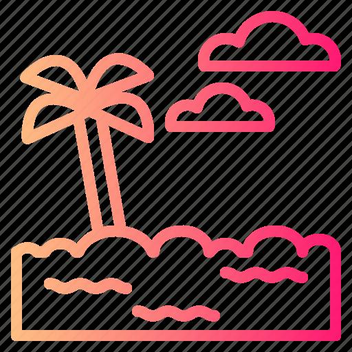 Beach, holidays, sunrise, sunset icon - Download on Iconfinder