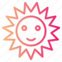 sun, sunny, warm, weather icon