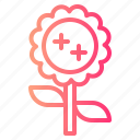 blossom, flowers, petals, sunflower icon