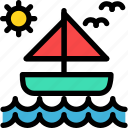 boat, christmas, holiday, holidays, summer, vacation, winter icon
