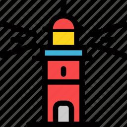 christmas, holiday, holidays, lighthouse, summer, vacation, winter icon