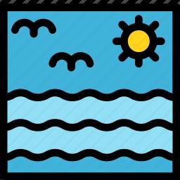 christmas, holiday, holidays, sea, summer, vacation, winter icon