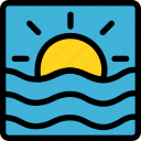 christmas, holiday, holidays, summer, sunset, vacation, winter icon