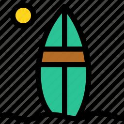 christmas, holiday, holidays, summer, surfboard, vacation, winter icon