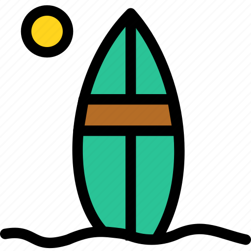 christmas, holiday, holidays, summer, surfboard, vacation, winter icon
