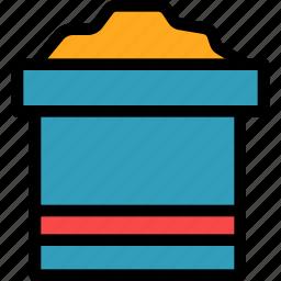 bucket, christmas, holiday, sand, summer, vacation, winter icon