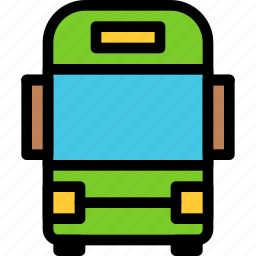 bus, christmas, holiday, summer, vacation, winter icon