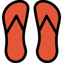 christmas, holiday, sandals, summer, vacation, winter icon