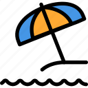 christmas, holiday, summer, sun, umbrella, vacation, winter icon