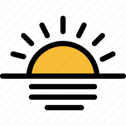 christmas, holiday, summer, sunset, vacation, winter icon