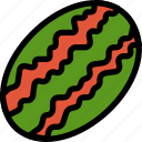 christmas, holiday, summer, vacation, watermelon, winter icon