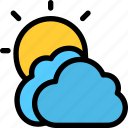 christmas, cloudy, holiday, summer, vacation, winter icon