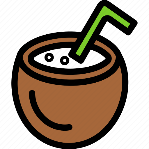 christmas, coconut, holiday, summer, vacation, winter icon