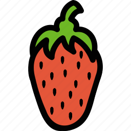 christmas, holiday, strawberry, summer, vacation, winter icon
