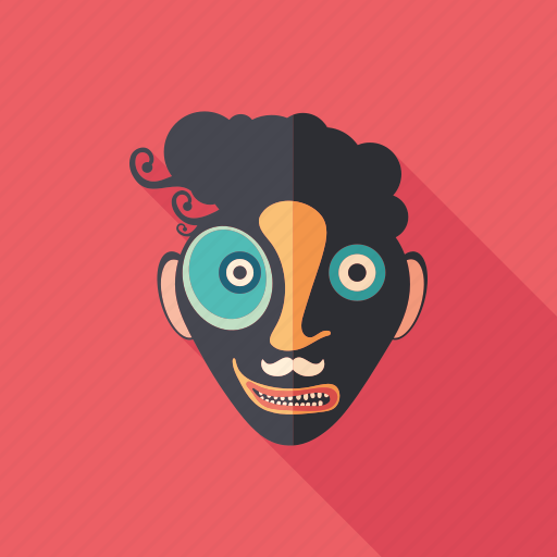 carnival, cartoon, character, clown, monster, psychedelic, summer icon