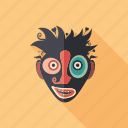 cartoon, character, clown, face, monster, psychedelic, summer icon