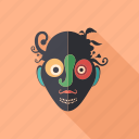 cartoon, character, clown, mask, monster, psychedelic, summer icon