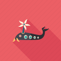 cartoon, character, fish, helicopter, monster, psychedelic, summer icon