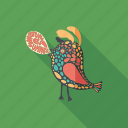 bird, cartoon, character, monster, psychedelic, summer, talk icon