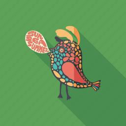 bird, cartoon, character, monster, psychedelic, summer, talk icon