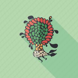 cartoon, character, flower, love, monster, psychedelic, summer icon